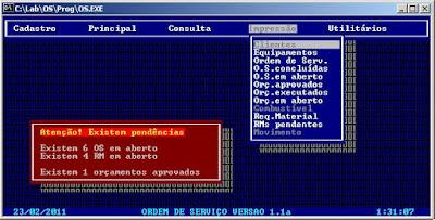 OS Ordem de Serviço 1998 Thiago França Clipper 5.2 DOS 6