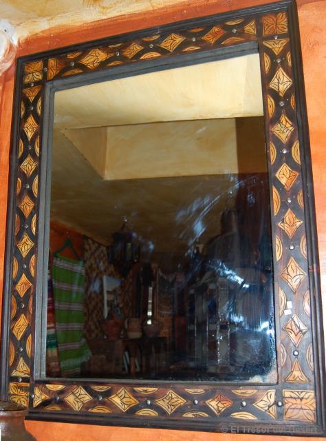 Opcionmadera espejos con marco de madera r stica - Espejos rusticos ...