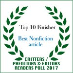 TOP 10 FINISHER BEST NONFICTION ARTICLE