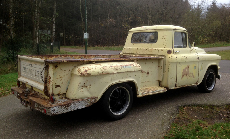 56 Chevy Belair For Sale RodCityGarage: 1959 GMC Long Bed Patina Truck