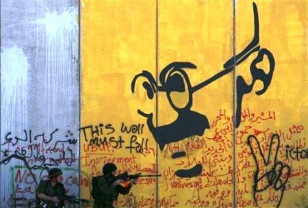 Ghandi e os judeus - Muro do Apartheid