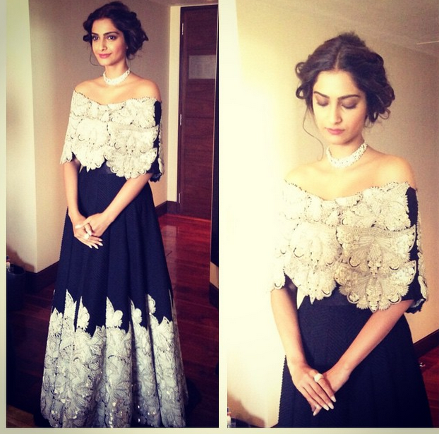 What Sonam Kapoor wore in Delhi today