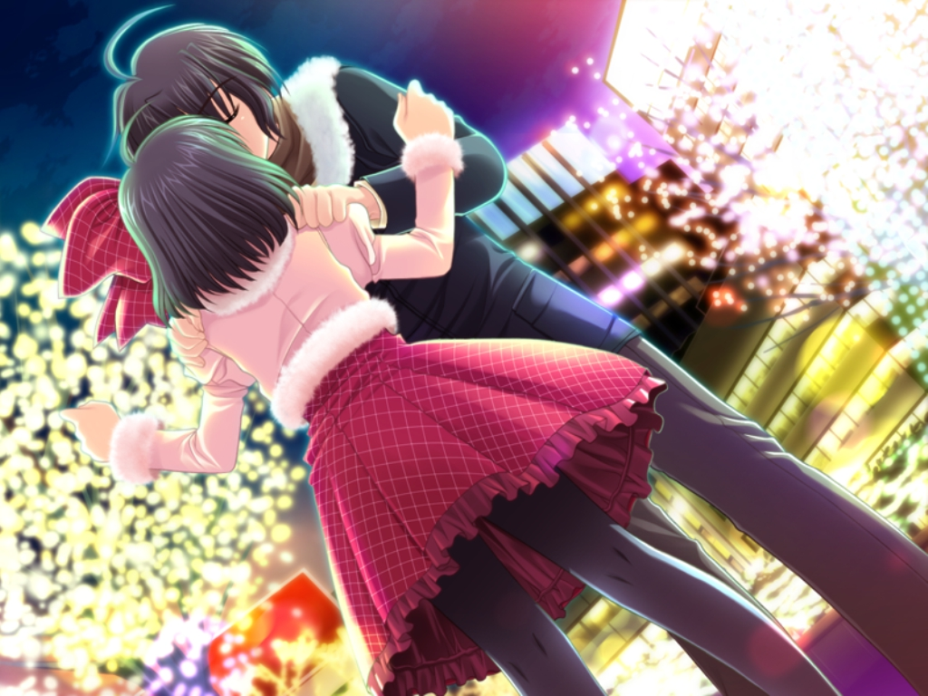 Animated Kissing Image Anime-romance-girl-boy-kiss-in
