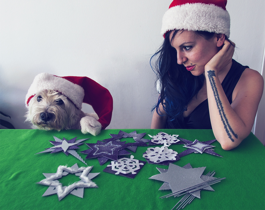 For Peet's Sake blog DIY Christmas tree ornaments dog westie santa hat