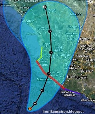 JOVA bleibt ein starker Hurrikan nahe Kategorie 4 - Sturmwarnung jetzt auch in Nayarit, Jova, Hurrikanwarnung, Nayarit, Colima, Jalisco, Mexiko, Puerto Vallarta, Manzanillo, aktuell, Satellitenbild Satellitenbilder, Oktober, 2011, Hurrikansaison 2011,