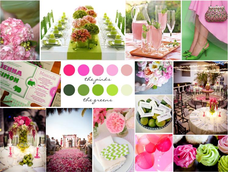 De Lovely Affair Color Inspiration Pretty Pink Amp Grass Green Wedding Palette