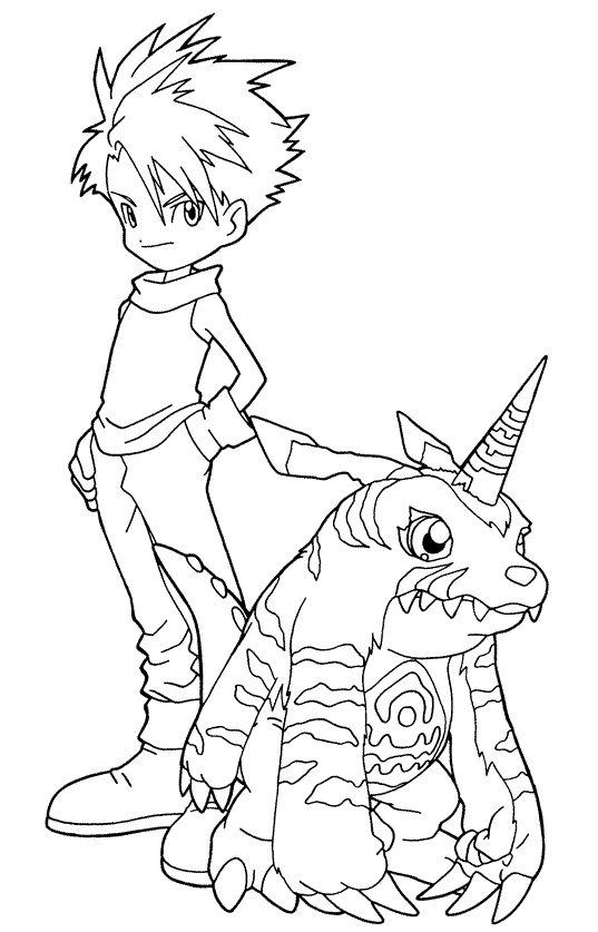 Dibujos animados para colorear Digimon para colorear