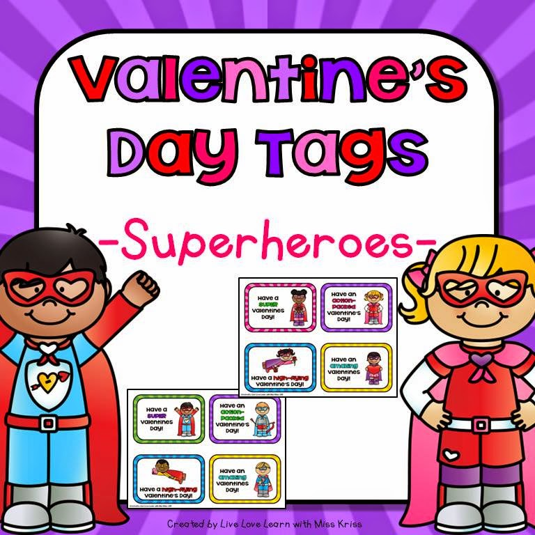 https://www.teacherspayteachers.com/Product/Superhero-Themed-Valentines-Gift-Tags-1655293