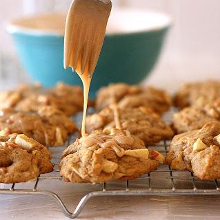 Maple-Glazed Apple Cookies | cookie recipes | apple recipes | maple recipes | perrysplate.com
