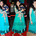 Sonali Kulkarni in Sky Blue Netted Salwar