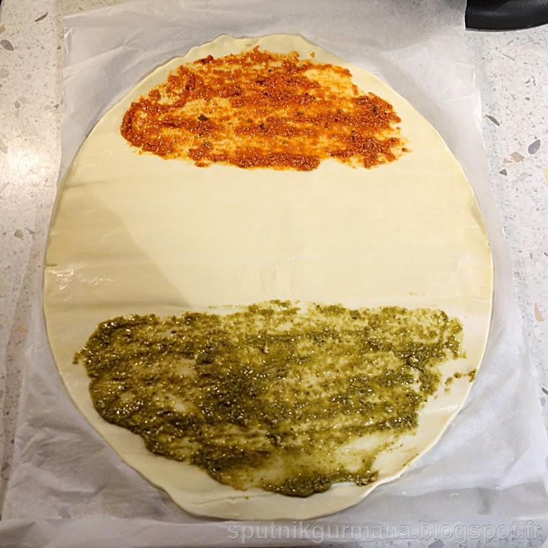 Солёные ушки с соусом песто-приготовление
