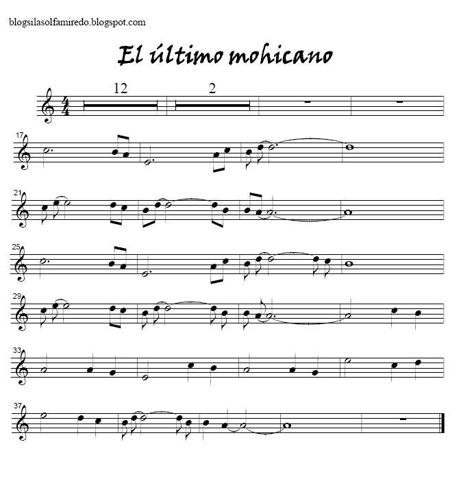 musica el ultimo mohicano: