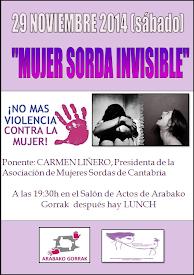 """Charla """"MUJER SORDA INVISIBLE"""" // SÁBADO, 29 DE NOVIEMBRE"""
