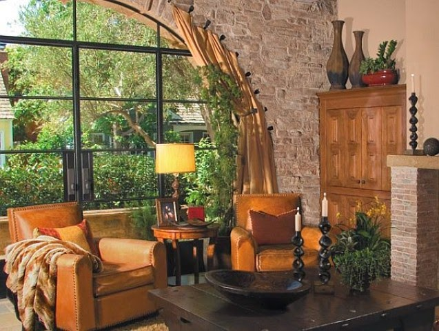 Country rustic living room designs