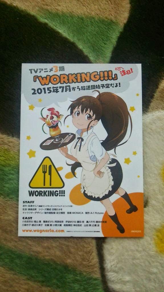 [ Info-Anime ] Tanggal Tayang Working Season 3 Diumumkan