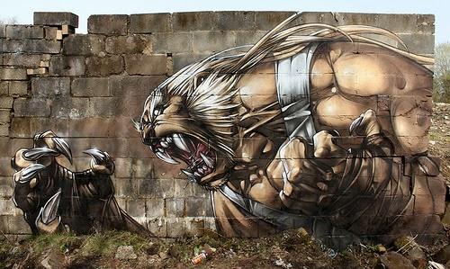 11-Sabre-toothed-Worrier-SmugOne-Graffiti-Artist-3D-www-designstack-co