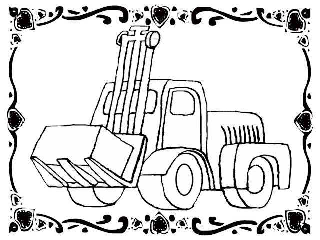 Car Coloring Forklift