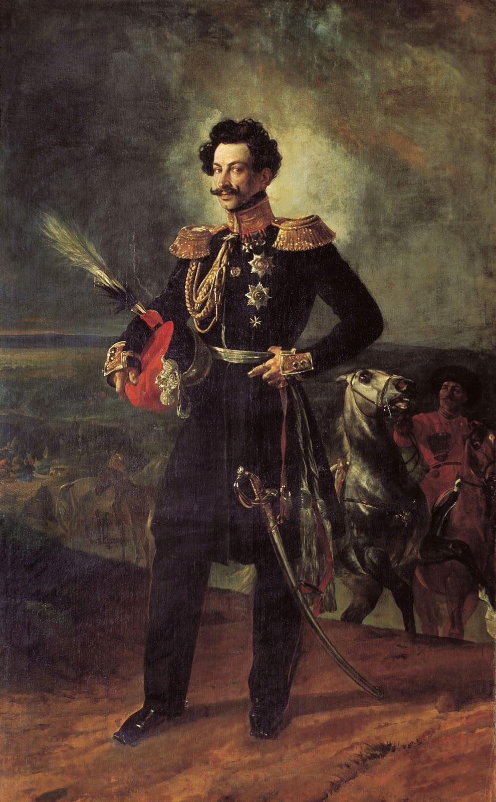 Karl   riullov  Portrait  of  the  General adjutant  Count  Vasiliy  Alekseevich  Perovskiyk C