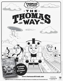 The Thomas Way coloring sheet.