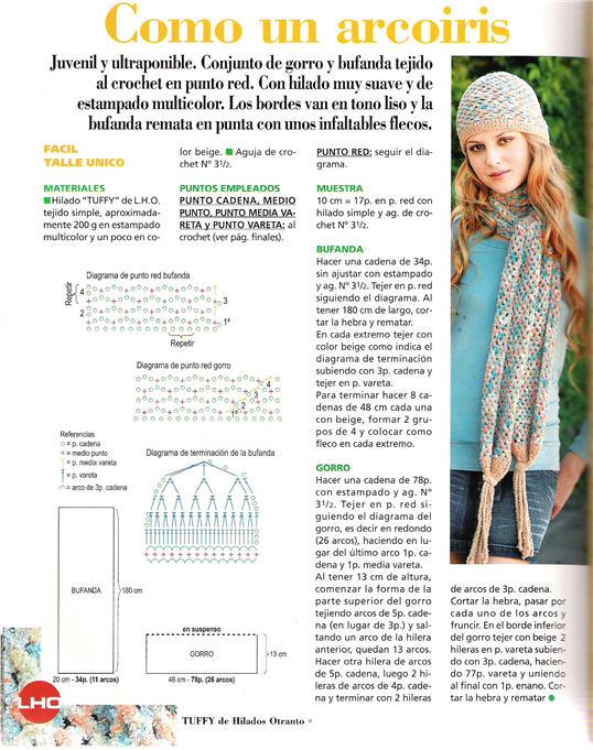 Gorros crochet patrones 2012 - Imagui