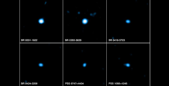 Chandra's X-ray detection of six quasars, at distances of billions of light years, rules out one model, according to which photons diffuse randomly through space-time foam in a manner similar to light diffusing through fog. Credit: NASA/CXC/FIT/E.Perlman et al