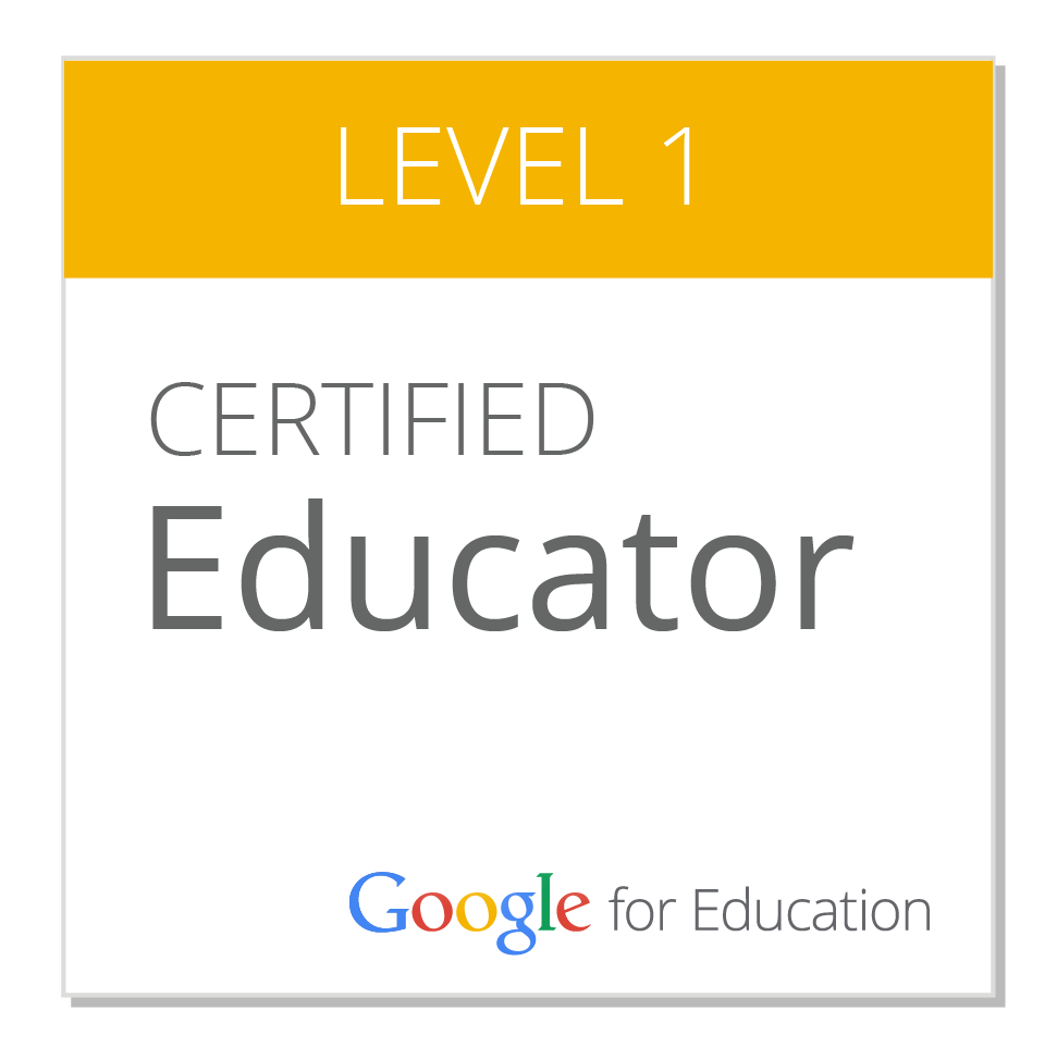 Google Certified Educator:  Level 1