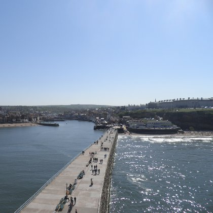 Whitby harbour wall