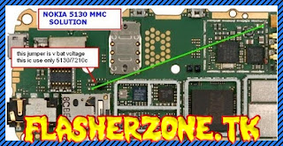 Nokia 5130 mmc memory card ways jumper diagram hardware problem solution