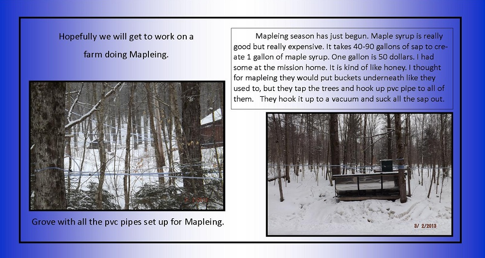 March 2, 2013 - Maple Sugaring