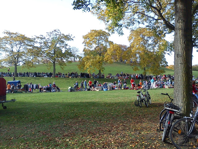 Flea Market in Rheinaue Park Bonn