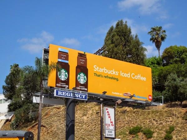 Starbucks Iced Coffee That's refreshing billboard