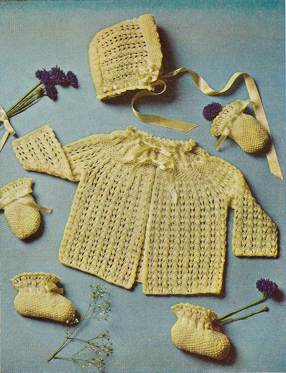 Lujo Baby Sets Knitting Patterns Viñeta - Manta de Tejer Patrón de ...