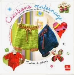 livre couture créations maternage couture tricot idées la plage éditions