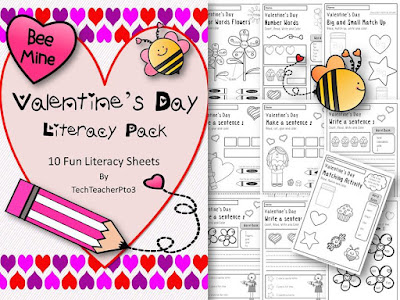 https://www.teacherspayteachers.com/Product/Valentines-Day-Literacy-Pack-10-Fun-English-Worksheets-Activities-1651269