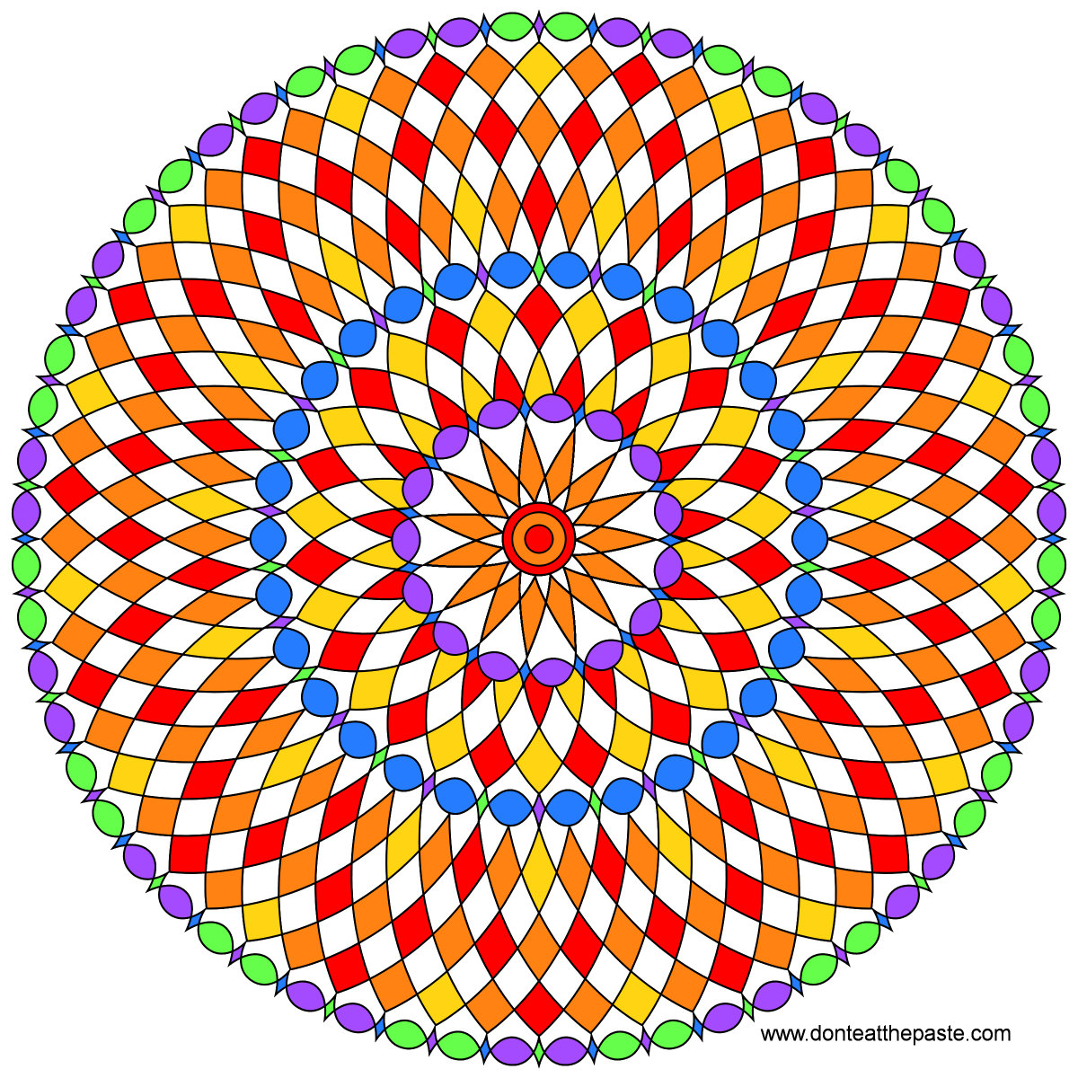 A new mandala to color- blank versions avail in PNG and JPG