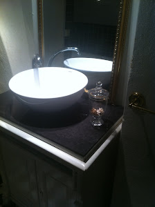 Kommoden jag gjorde om till badrummet