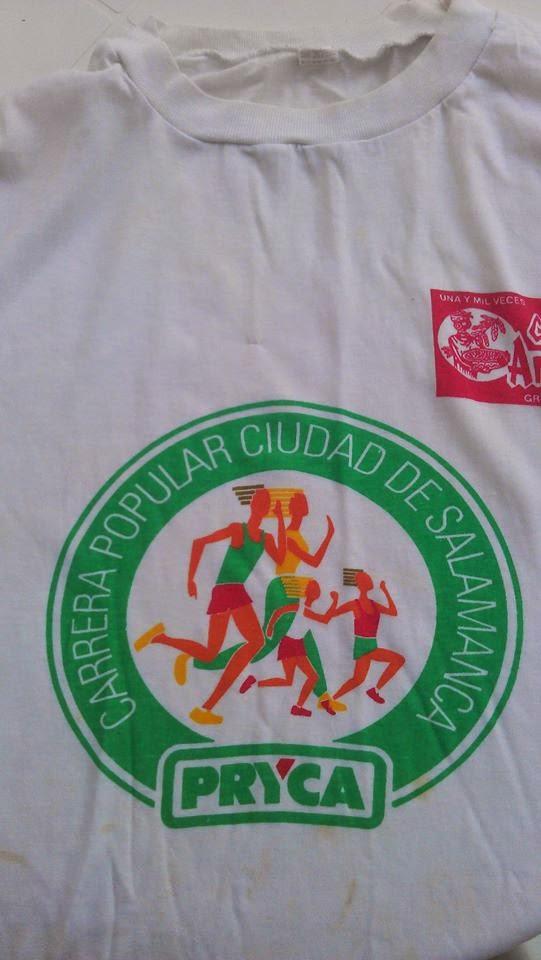Camiseta conmemorativa de la Carrera Popular PRYCA Salamanca