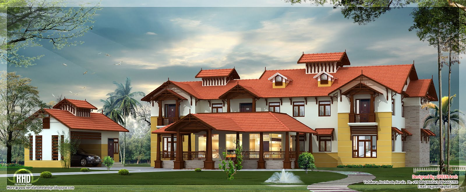 Super luxury Kerala style home design Kerala home design and floor plans