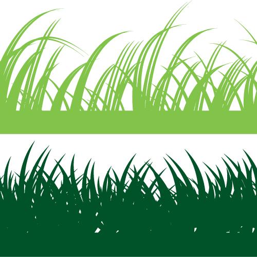 Hierba verde claro y oscuro