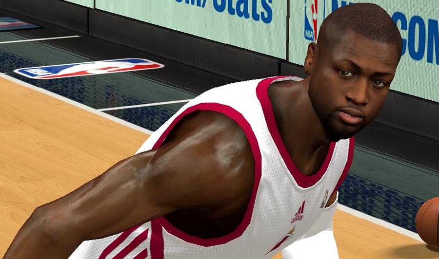 NBA 2K14 Dwyane Wade Hair Update Patch
