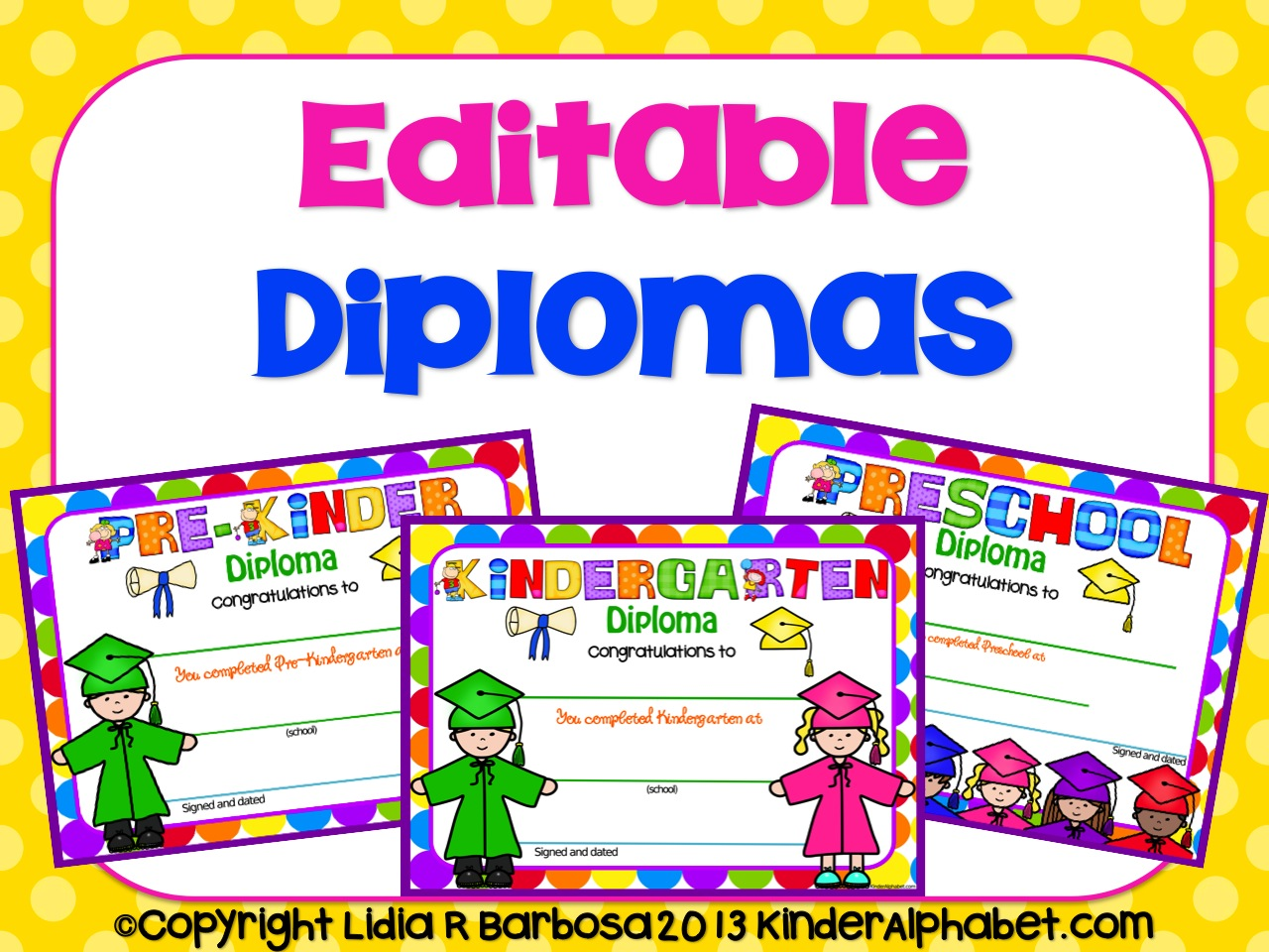 End of the year ideas editable diplomas yadclub