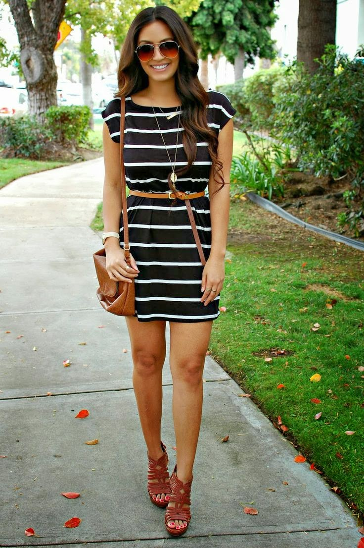 blacke dress with wight lines by fashion trend...