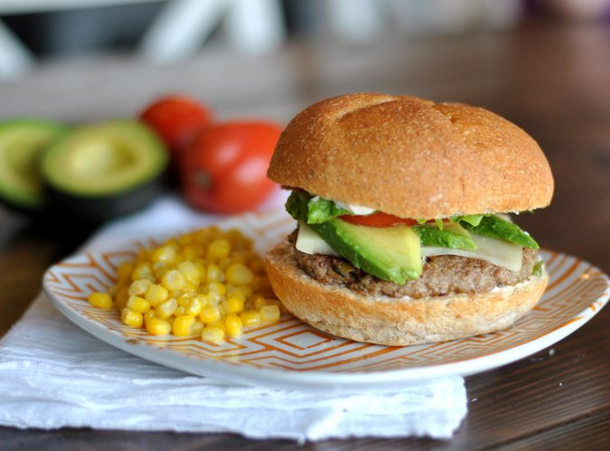 Green Chile Turkey Burgers; Tuesday's recipe below)
