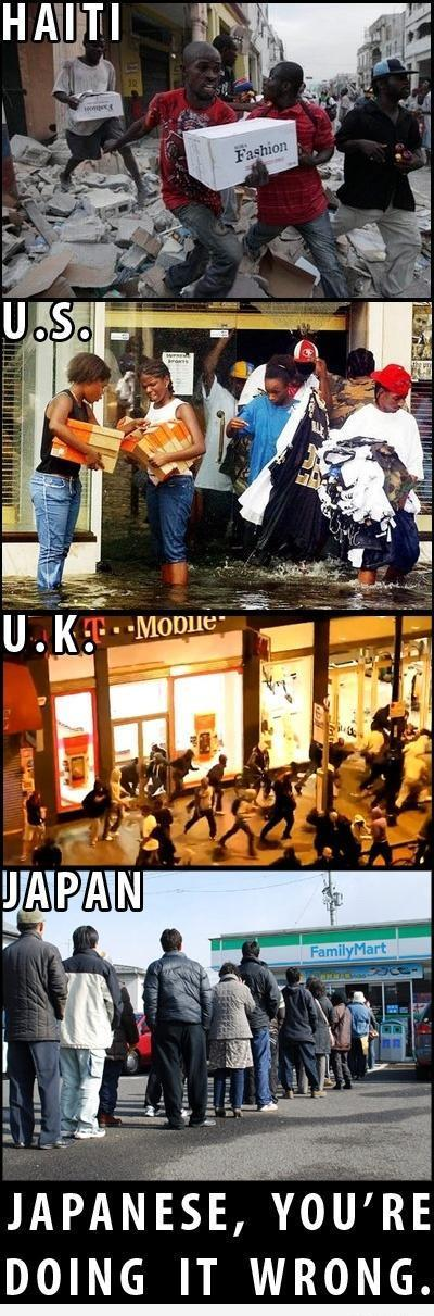 Difference between Japanese and rest of the world at the time of chaos funny pic