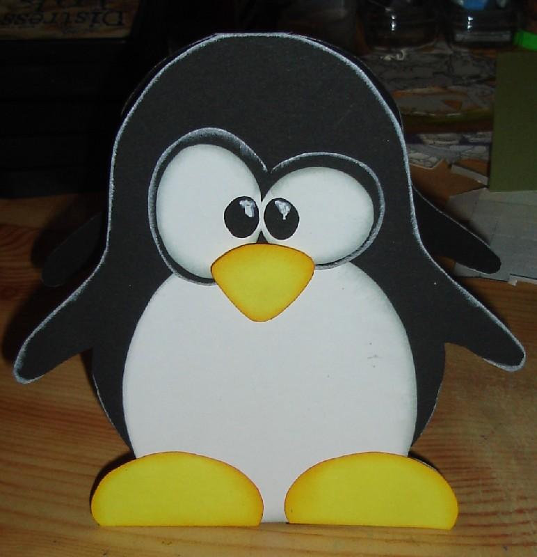Papiertiger s er pinguin - Pinguin basteln vorlage ...
