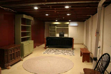 Basement staged for sale