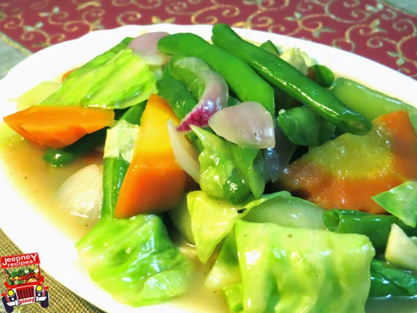 A plate of savory chopsuey all vegetables
