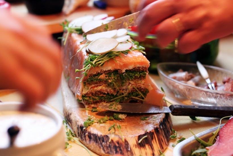 smörgåstårta med lax