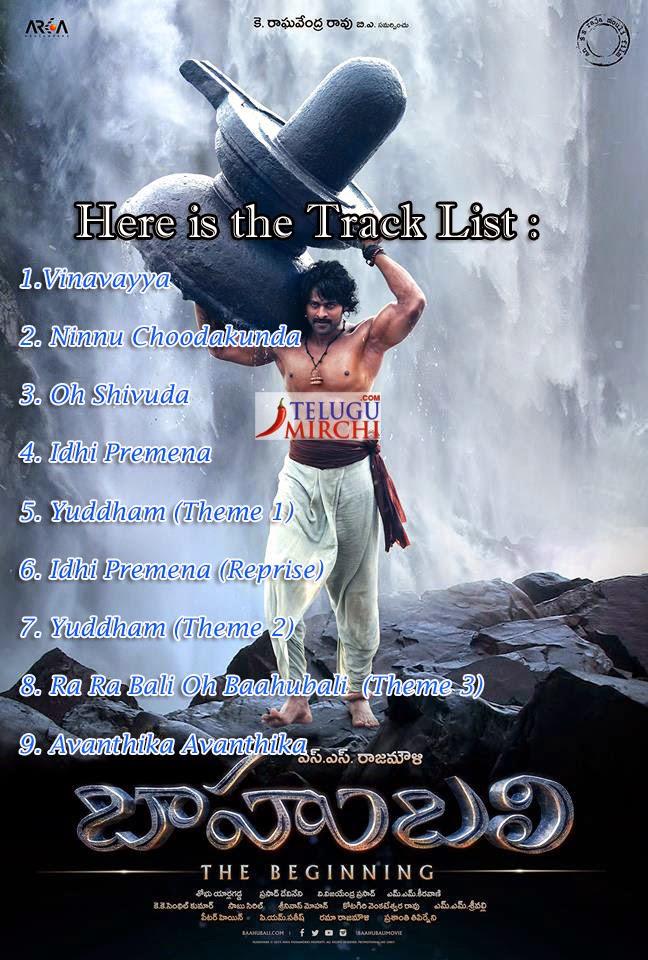Bahubali Movie Songs Track List | Baahubali Songsdownload