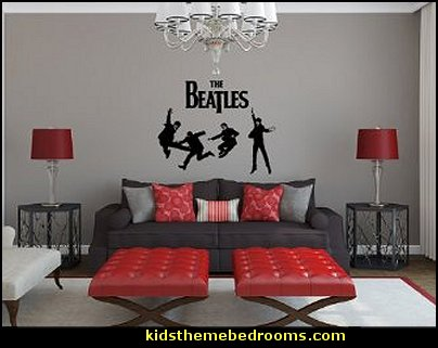 Decorating theme bedrooms maries manor music bedroom for Beatles bedroom ideas